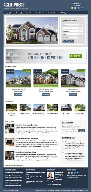 WordPress Real Estate WordPress Theme