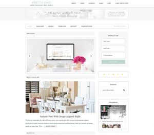 Pretty Chic Feminine WordPress Theme
