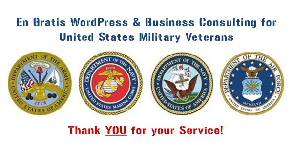 WordPress help for US Military Veterans