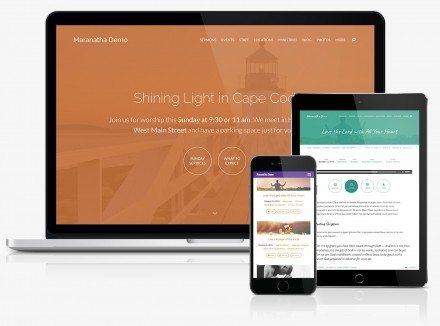 Maranatha Church Website Theme