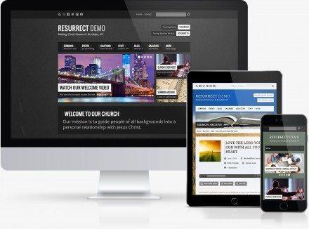 Resurrect Premium Church WordPress Website