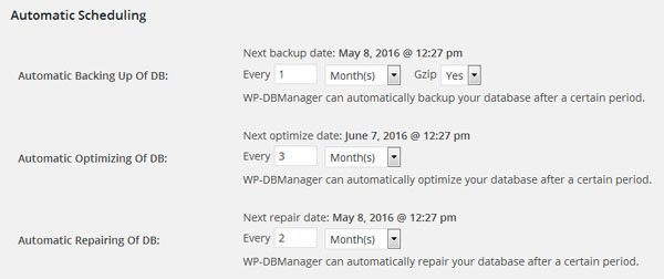 WordPress Database Help