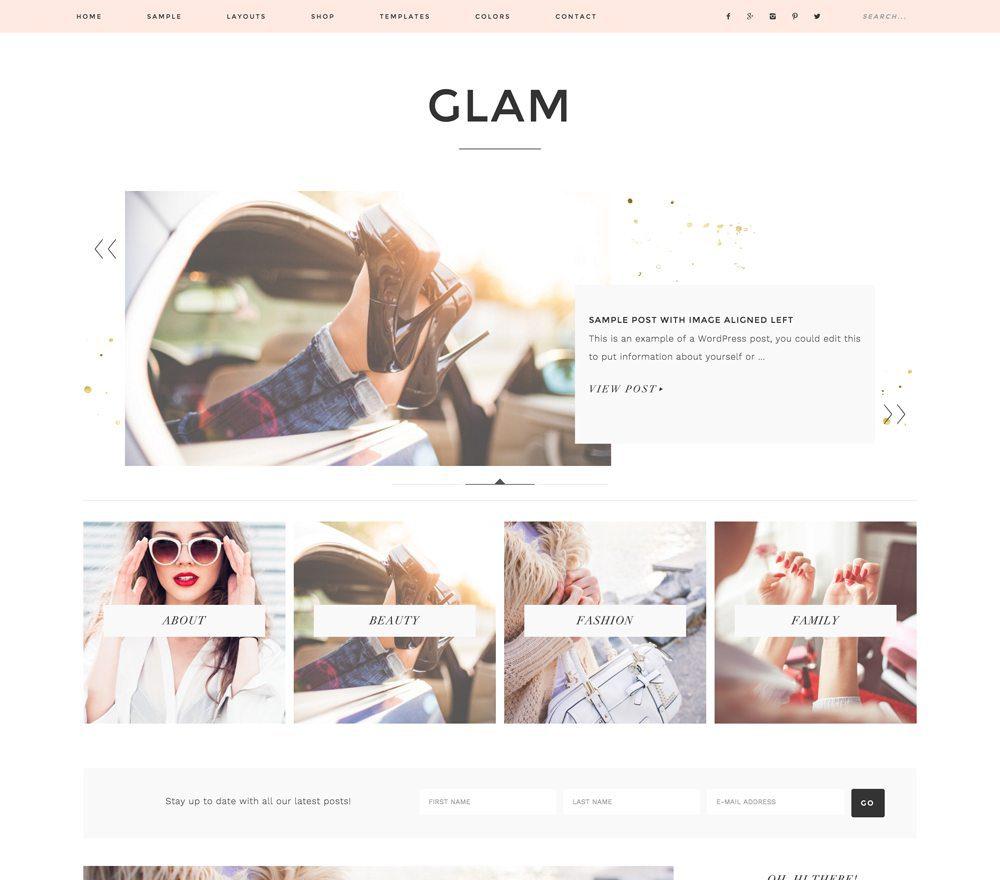 Glam Pro Premium WordPress Theme