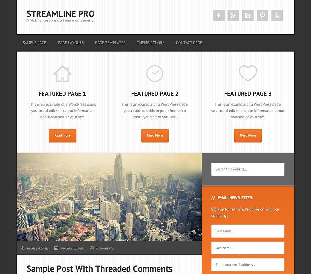 Streamline Pro Theme