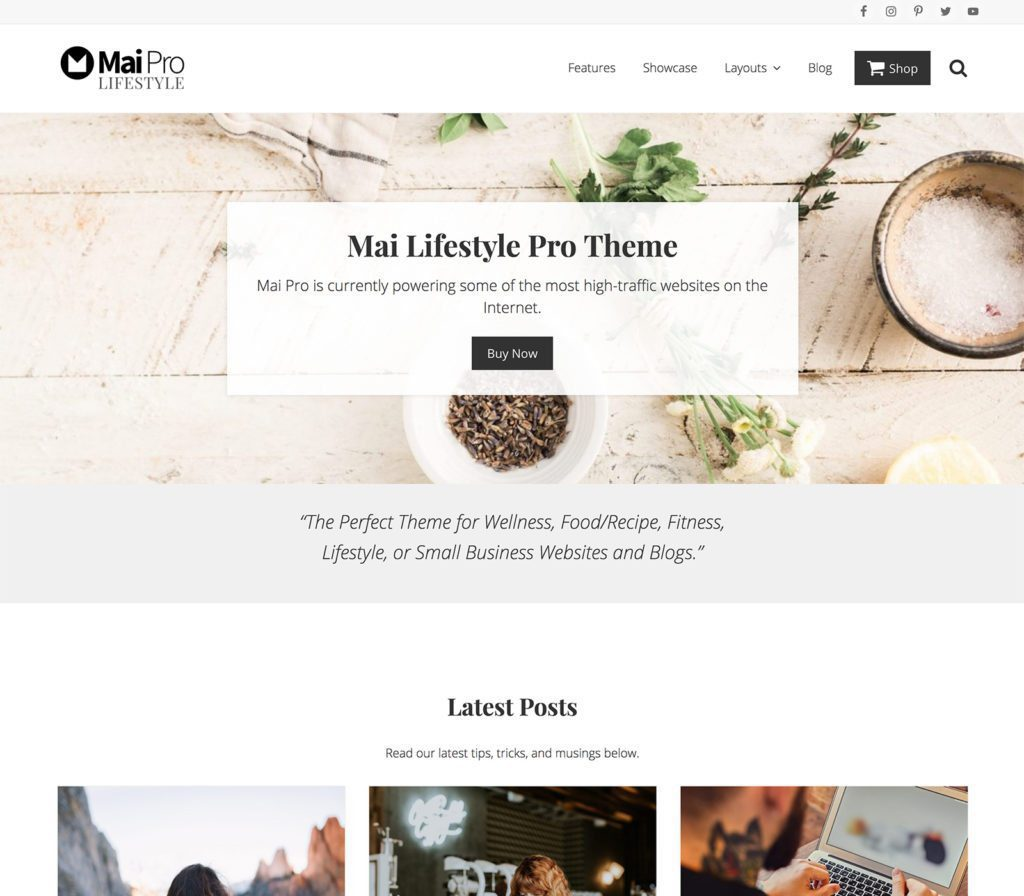 Mai Lifestyle Pro Premium WordPress Theme