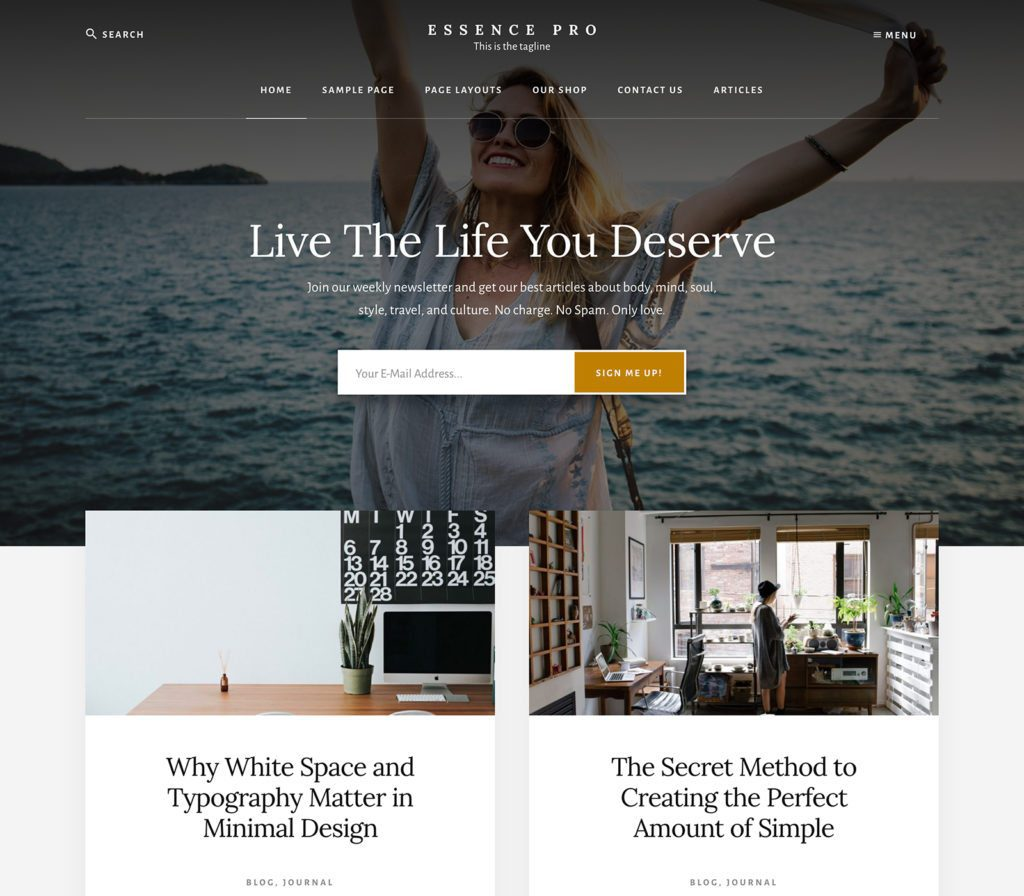 WordPress Essence Pro Theme
