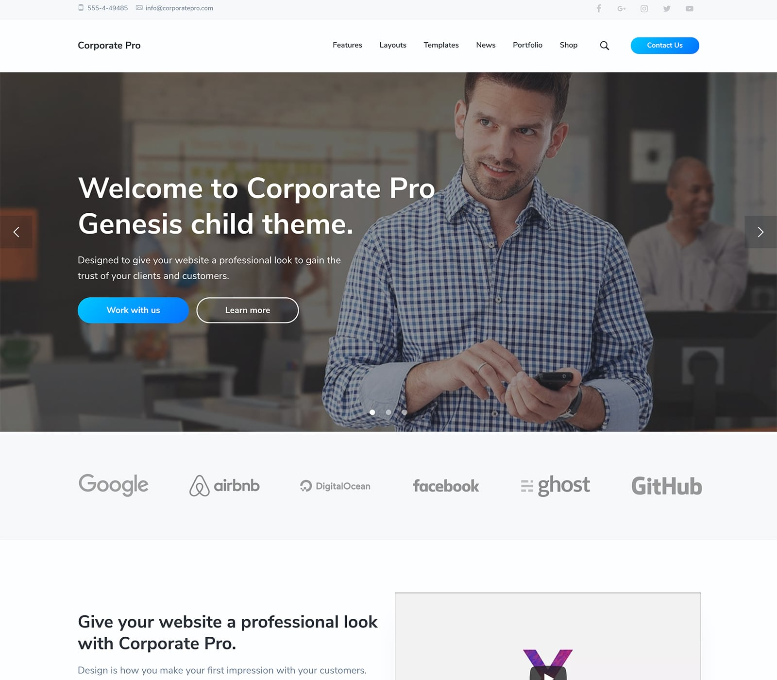 Corporate Pro Premium WordPress Theme