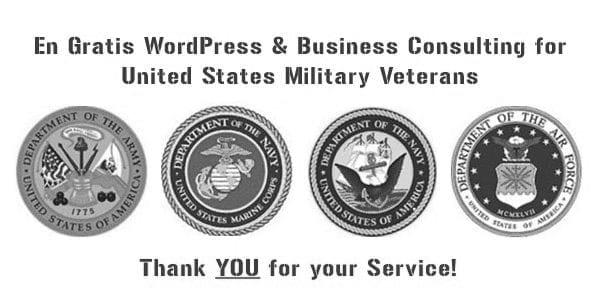 WordPress Website Help for U.S. Military Veterans