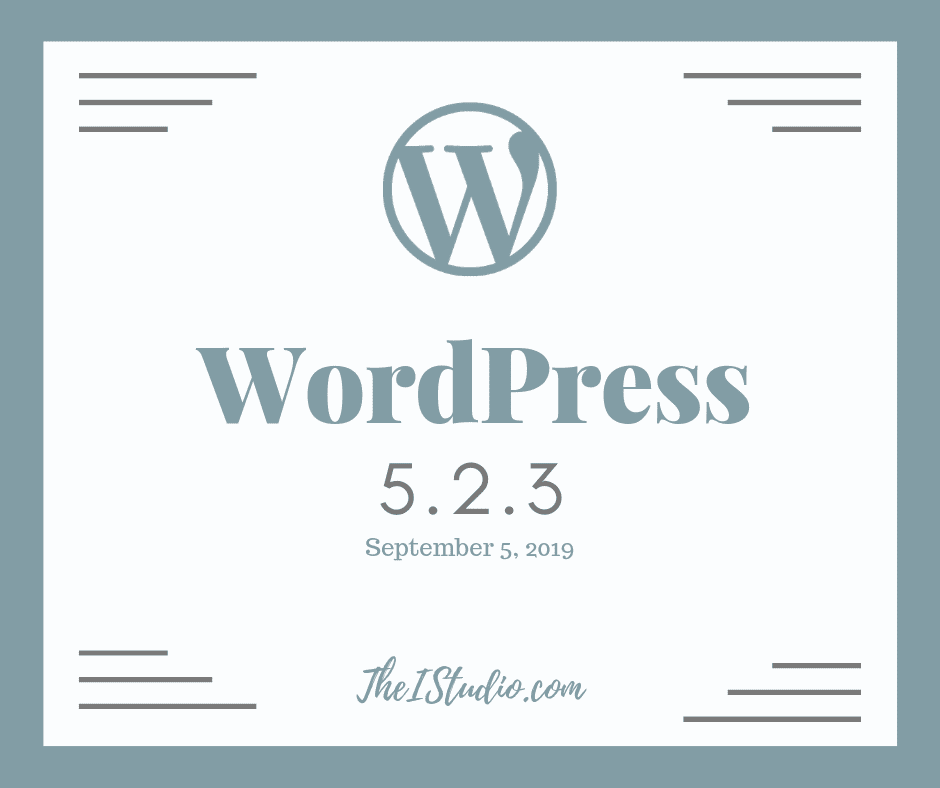 How to update to WordPress 5.2.3 Security & Maintenance Release