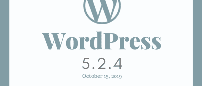 WordPress Security Update 5.2.4