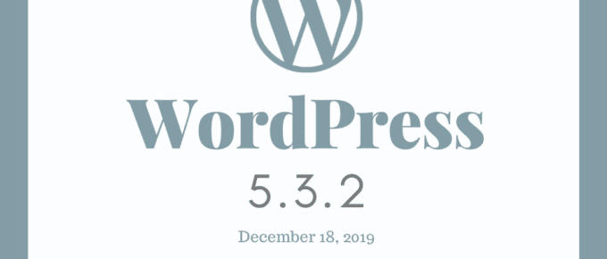 How to update to WordPress 5.3.2 Maintenance Release