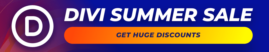 Divi Summer Sale